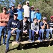 Vineville UMC youth builds picnic tables for Wesley Glen to earn Eagle rank
